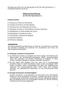 thumbnail of Datenschutzordnung