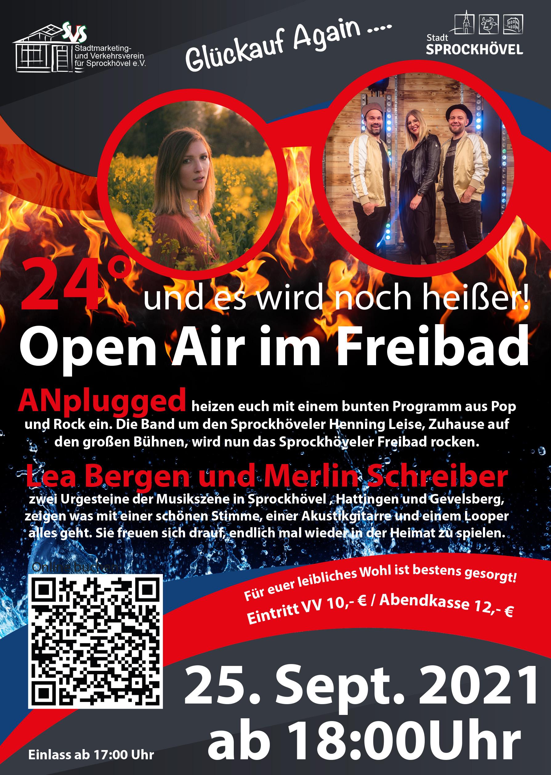 Freibad Open Air Musik Event am 24.9.